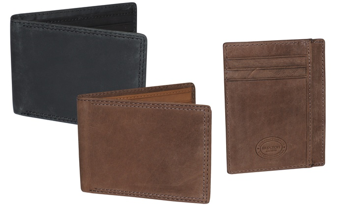 Men's RFID-Blocking Leather Wallets