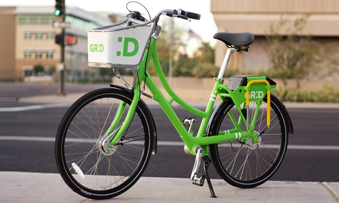 Grid Bike Share - Phoenix: 30-Day Monthly Basic or Monthly Plus Membership from Grid Bike Share (50% Off)