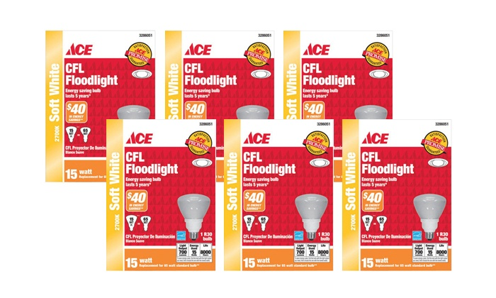 Gordon's Ace Hardware - In-Store Pickup: $6 for a 6-Pack of CFL Light Bulbs with In-Store Pickup at Gordon's Ace Hardware ($47.94 Value)