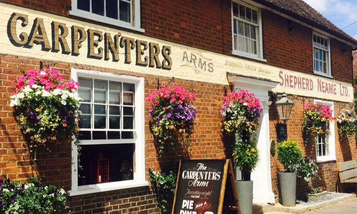 Two-Course Meal with Hot Drink Each for Two or Four at The Carpenters Arms