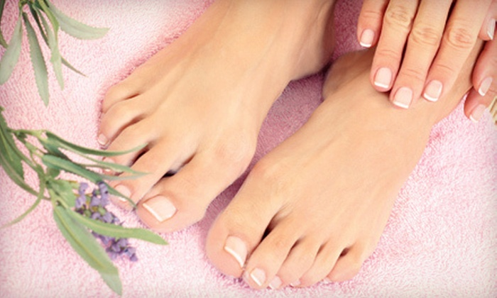 Organic Nail Care - Plano: $30 for Deluxe Organic Mani-Pedi at Salon Boutique ($70 Value)
