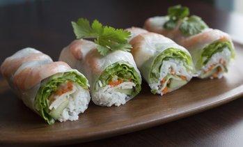 Two Vietnamese Rice Paper Rolls