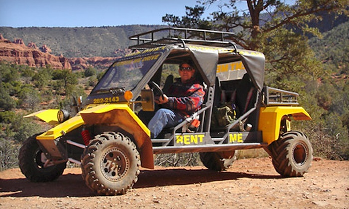 Arizona Safari Jeep Tours - Sedona: Half-Day Two- or Four-Seat Tomcar Rental at Arizona Safari Jeep Tours (Half Off)