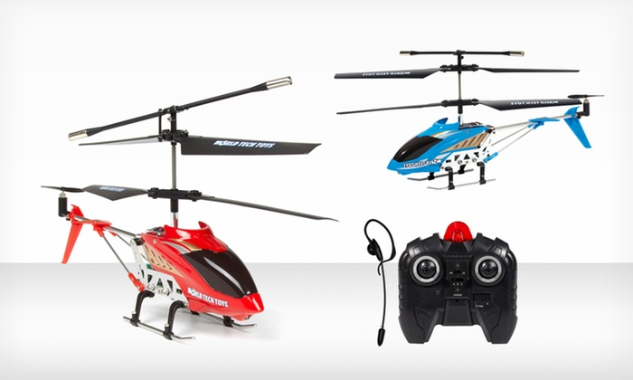 Heli Command Voice-Controlled RC Helicopter: $24.99 for a Heli Command Voice-Controlled RC Helicopter in Blue or Red ($119.99 List Price). Free Shipping and Returns.