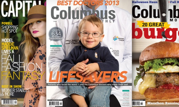 """Columbus Monthly"" & ""Capital Style"": One- or Two-Year Subscription to ""Columbus Monthly"" and ""Capital Style"" Magazine (Up to 65% Off)"