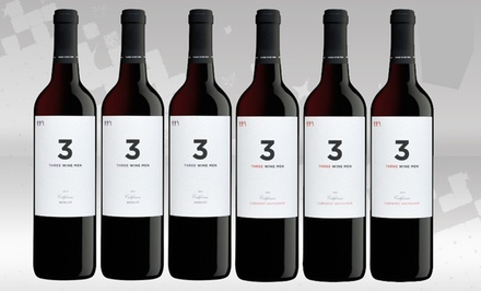 6 Bottles of 3 Wine Men Red Wines