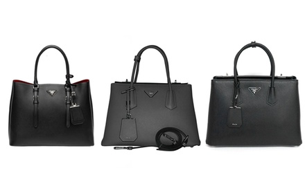 Prada Saffiano Cuir Leather Tote Bags