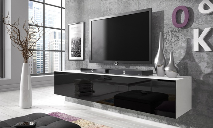 meuble tv rocco groupon shopping. Black Bedroom Furniture Sets. Home Design Ideas