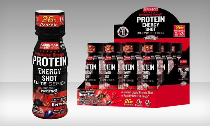 24-Pack of Six Star Protein Energy Shots: 24-Pack of 2.5 Fl. Oz. Six Star Protein Energy Shots in Berry Blast