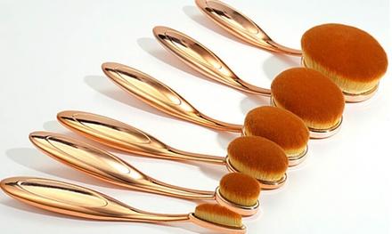 Set van 10 borstels met ovale kop, keuze uit zwart of goud