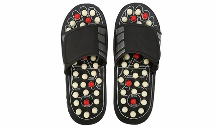 Acupoint Reflexology Sandals with 360° Rotating Spring Massage Buttons