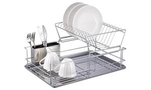 Home Basics 2-tier Chrome Dish Rack
