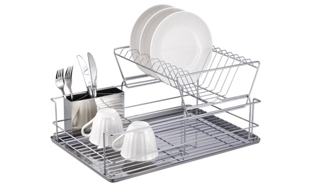 Home Basics 2-Tier Chrome Dish Rack
