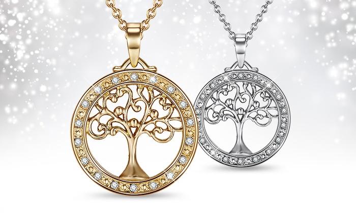 Collier cristaux swarovski groupon shopping - Signification arbre de vie ...