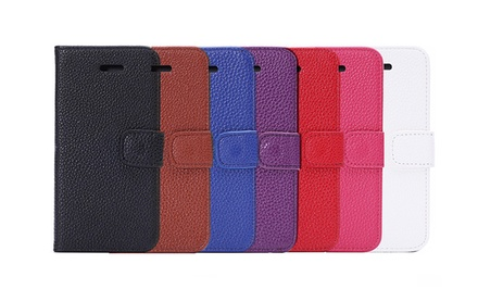 iPM Leather Pebbles Wallet Case for Apple iPhone 6 with 4.7