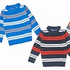 Kids' Double-Striped Crew-Neck Sweaters
