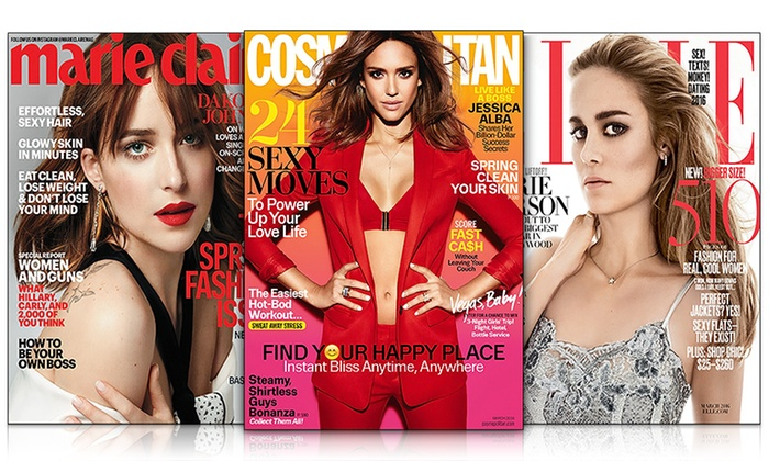 Hearst Magazines: 1-Year Subscription to Hearst Women's Fashion Magazines; Choose from Cosmopolitan, ELLE, Harper's BAZAAR, and More