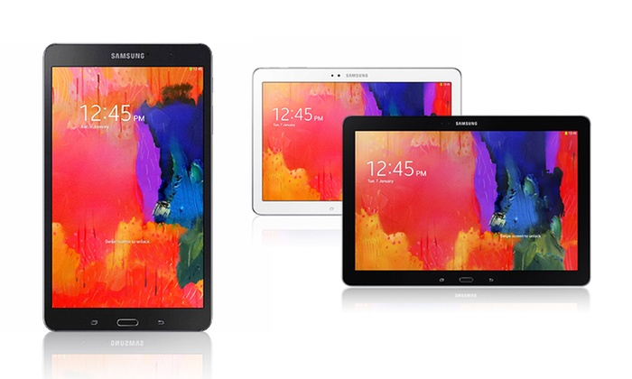 """Samsung Galaxy Tab Pro 16GB or 32GB Tablet: Samsung Galaxy Tab Pro 8.4"""", 10.1"""", and 12.2"""" Tablet from $249.99–$399.99 (Manufacturer Refurbished)"""
