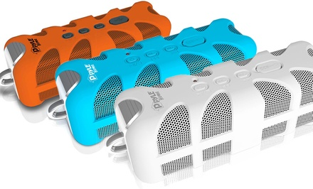Pyle Sound Box Splash-Proof Bluetooth Wireless Speaker (PWPBTA70). Multiple Colors Available. Free Returns.