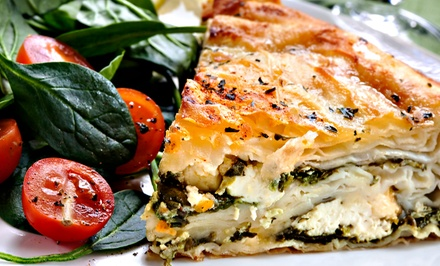 Greek Cuisine for Dinner at Tassos (45% Off). Two Options Available.