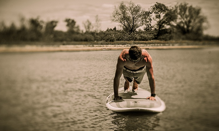 LakeSet Fitness - Grapevine: Unlimited Summer Paddleboard Fitness Classes for One, or Five Classes for Two at LakeSet Fitness (Up to 63% Off)