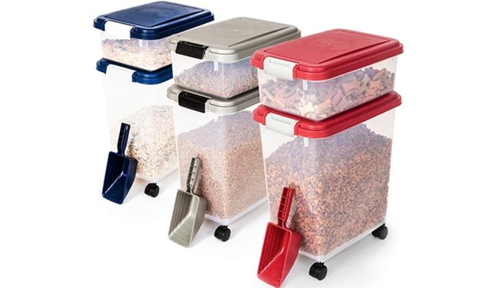 Merveilleux 3 Piece Airtight Pet Food Storage Set ...