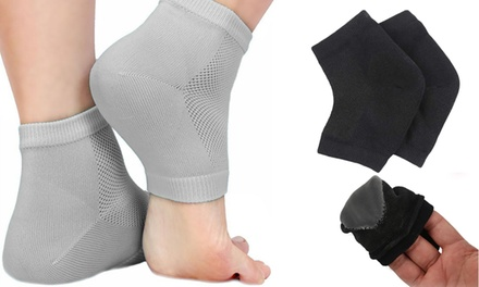 One, Two or Four Pairs of Gel Moisturising Heel Sleeves