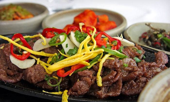 Shin Sa Dong Korean BBQ - Dayton Triangle: Korean Barbecue and Drinks for Dinner or Lunch at Shin Sa Dong Korean BBQ (Half Off)