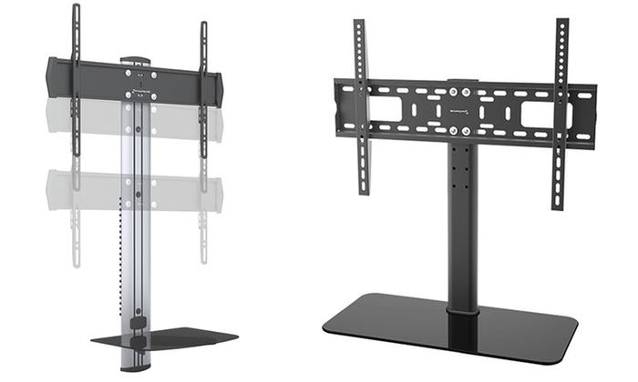 gforce tv mount and shelf combo groupon goods. Black Bedroom Furniture Sets. Home Design Ideas