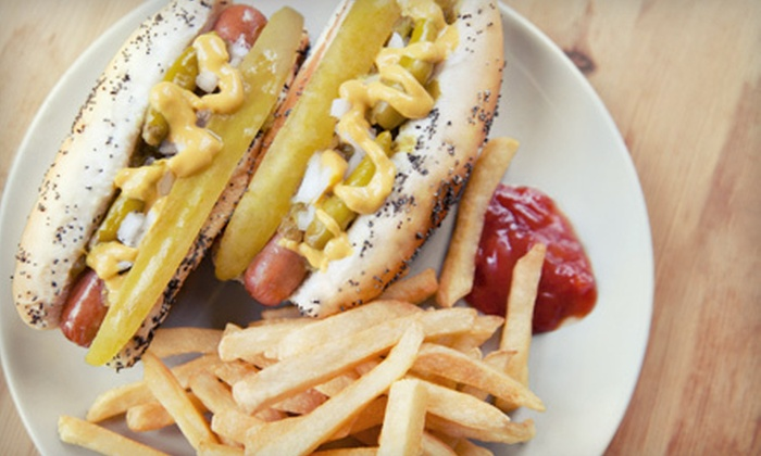 Maxwell's Hot Dogs - Northwest Elgin: $10 for $20 Worth of Hot Dogs, Sandwiches, and Salads at Maxwell's Hot Dogs in West Dundee