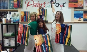 Paint and Pour: $16.99 for Two-Hour BYOB Painting Class for One at Paint and Pour Dearborn ($35 Value)