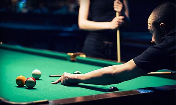 Java Billiards - Central: Pool, Pizza, and Soda for 2, 4, or Up to 10 at Java Billiards (Up to 70% Off)