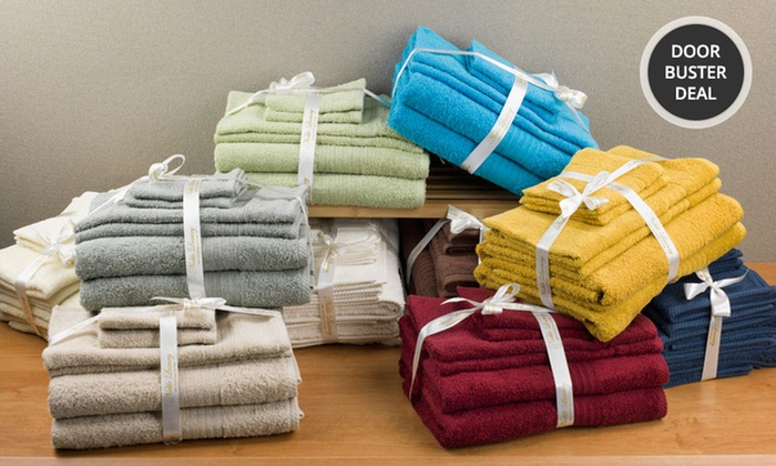 Luxurious 100% Egyptian Cotton Spa Collection 6-Piece Towel Set: Luxurious 100% Egyptian Cotton Spa Collection 6-Piece Towel Set. Multiple Colors Available. Free Returns.