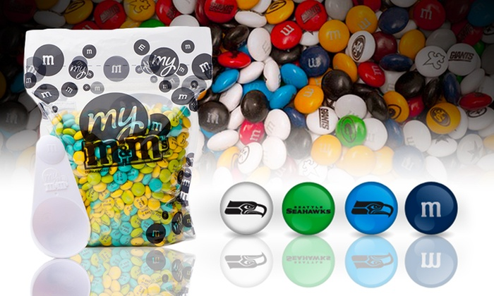 M&M's NFL Bulk Candy Bag: M&M's NFL 2 or 5 Lb. Bulk Candy Bag from $29.99–$59.99