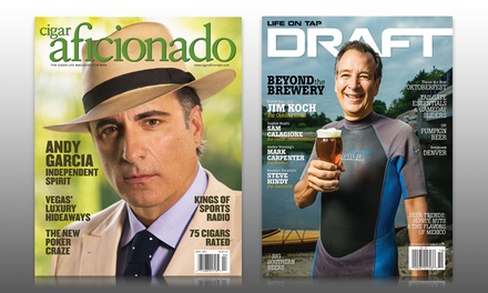 1-Year, 6-Issue Subscription to DRAFT or Cigar Aficionado