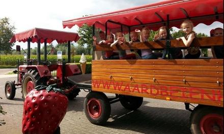 Kinder entree incl. zakje chips of een ijsje (ouders gratis entree) voor familiepark Het Aardbeienhof