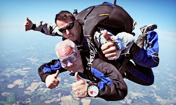 Triangle Skydiving Center - Harris: Tandem Skydiving for One or Two from Triangle Skydiving Center (Up to $188 Off)