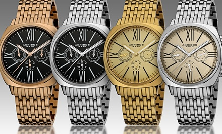 Akribos XXIV Men's Vintage Multifunction Watches. Multiple Styles Available.