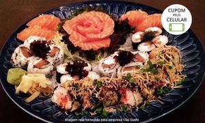Vila Sushi: Vila Sushi – Quilombo: combinado japonês com 36 ou 72 peças