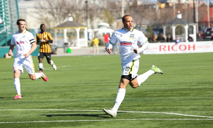 Rochester Rhinos vs. Harrisburg City Islanders - Sahlen's StadIum: Rochester Rhinos Soccer Game for Two or Four at Sahlen's Stadium on Saturday, August 23, at 7:05 p.m. (Up to 46% Off)