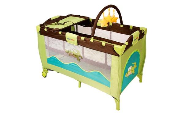 Lit bébé parapluie 3 en 1 avec matelas et accessoires, 9 modèles au