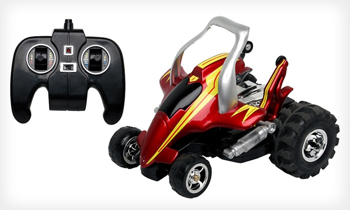 Remote-Controlled Savage Car: $14 for a Remote-Controlled Street Savage Stunt Car in Blue or Red ($34 List Price). Free Returns.