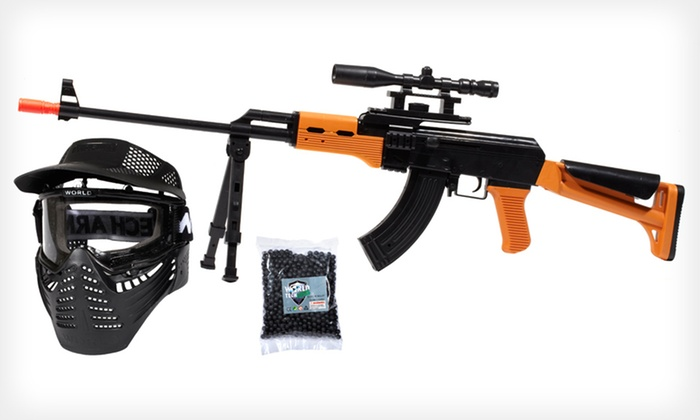 $45 for an Airsoft Sniper Rifle Package ($100 List Price)  Free Shipping