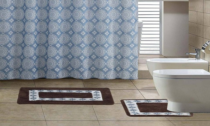 ... 15 Piece Bathroom Set With Two Bath Mats: 15 Piece Bathroom Set With ...