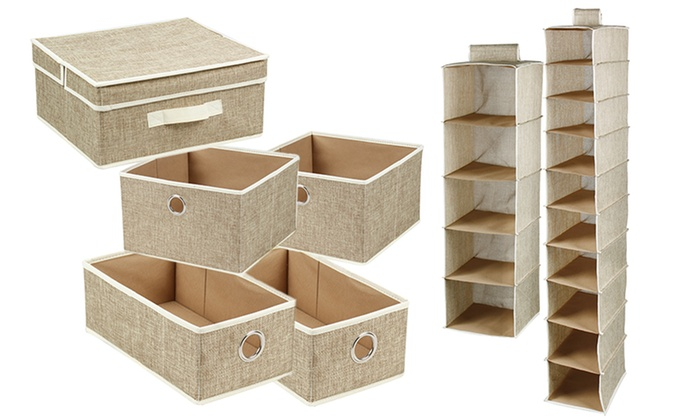 7 Piece Closet Organizer Set ...