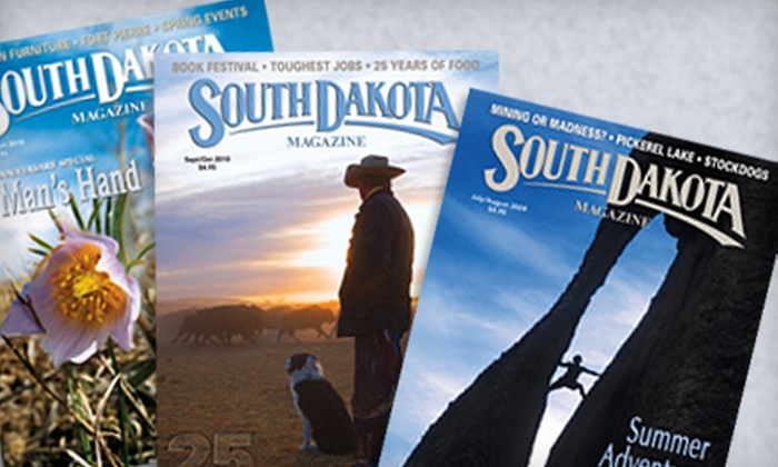 "South Dakota Magazine - Yankton: $12 for a One-Year Subscription to ""South Dakota Magazine"" ($23 Value)"