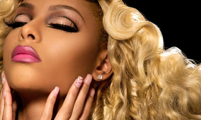 PhD PLATINUM Salon & Makeup Bar - Shaunita - Conyers: $45 for $100 Groupon — Phd Platinum Salon & Makeup Bar