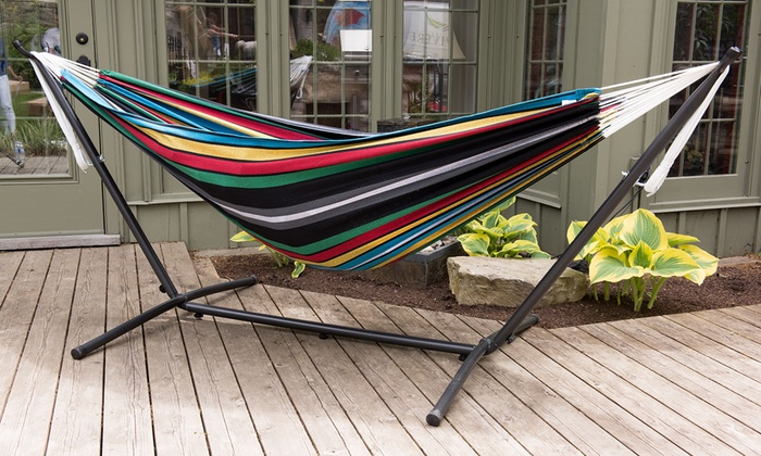 Good ... Vivere 9 Ft. Double Hammock With Stand