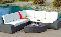Bodega Outdoor Grey Wicker Sofa Set