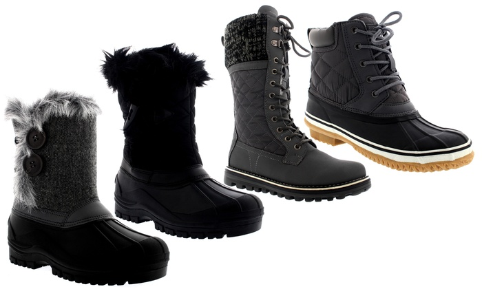Women's Winter Quilted Snow Boots | Groupon